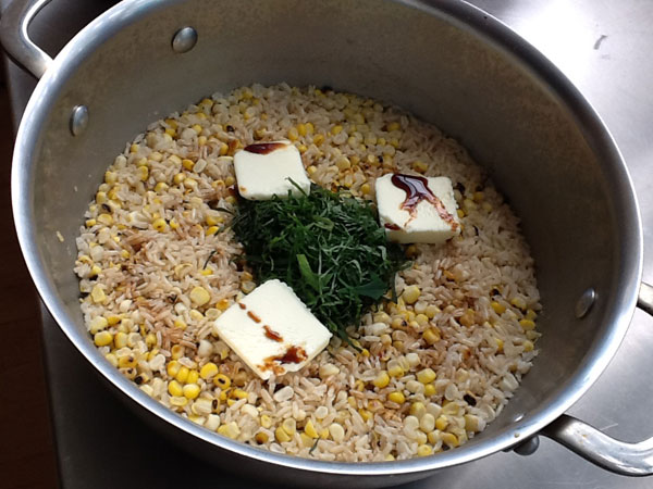 Corn and Ginger Rice with Shoyu and Butter